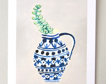 Plant on my window sill no. 3 // print, watercolor