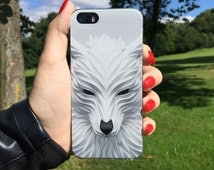 White Wolf Iphone case, Wolf 3D Iphone Case, Iphone 5 / 5s / SE / 6 / 6s / 6 Plus Case