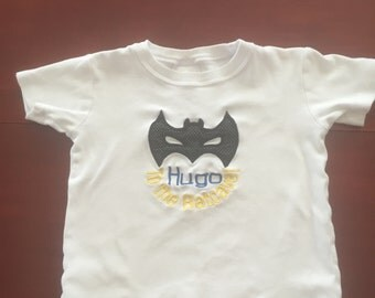 "Personalized ""To the Batcave"" Batman-theme tee-shirt"