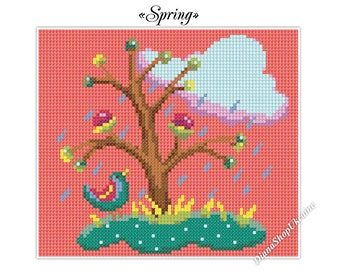 Spring - Cross Stitch Pattern PDF - Instant download