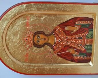 Saint Barbara - St Varvara - Hand painted orthodox icon - orthodox icon for sale - iconography - religious gift