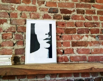 Screen printing 'Look' - limited edition - 100 lbs acid-free paper / / frame - pop art - gift - hand - made decoration