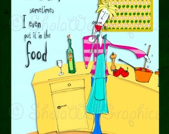 Joy of Housework - Wine Cooking A4 Sheet (PU,S4H) Scrapbook
