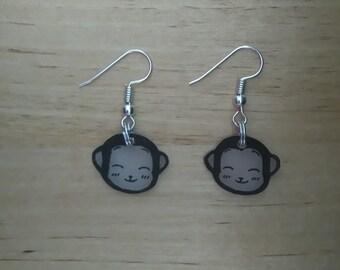 Monkey kawaii earrings 2