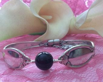 Onyx stone vintage bracelet