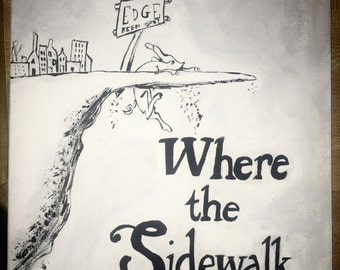 Shel Silverstein Grayscale Poetry Book Cover Painting