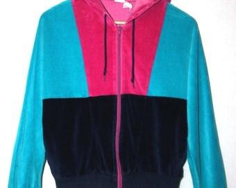 Vintage 1980's Velour Sports Jacket
