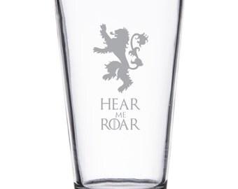 Lannister Hear Me Roar - Pint or Whiskey/Rocks Glass