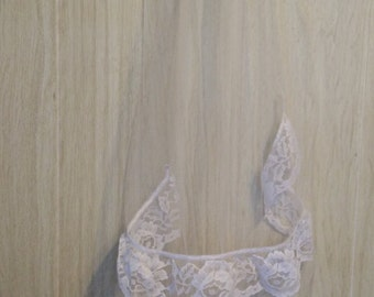 White two tiered veil