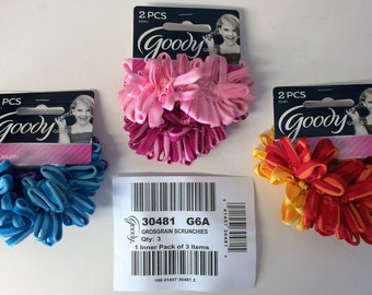 Goody Girls 30481 G6A Grosgrain Scrunchies 6pcs.