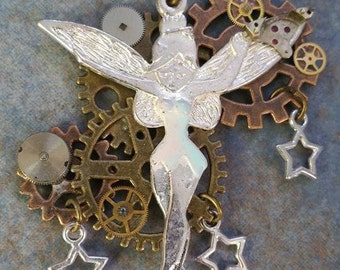 Unique Tinkerbell Inspired Steampunk Necelace