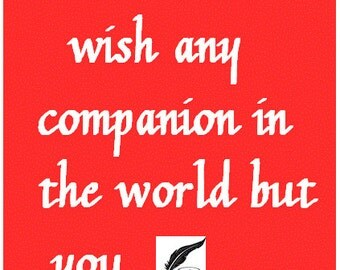 I Would Not Wish Any Other Companion, Poster/Print, Romantic, Shakespeare,Tempest
