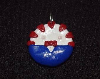Peppermint Butler Clay Charm
