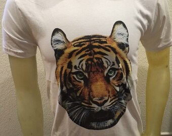 Tiger T-shirt in white Small and XL