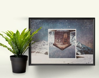 A House Away from Home - A4 Graphic Print. A Perfect Gift for the Home. Photographic Art Design.