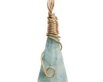 30% OFF SALE!!! Aquamarine Blue Boho Necklace