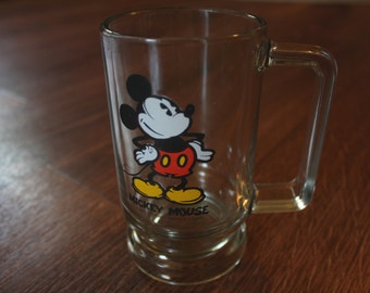 Vintage Disney Mickey Mouse Beer Glass