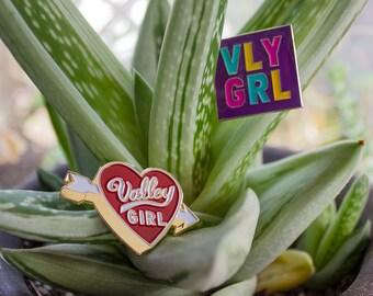Valley Girl Heart Pin