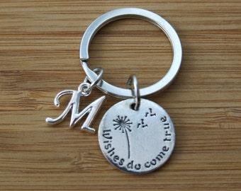 Wishes Do Come True Keychain, Bag Accessories, Initial Keychain, Personalized Accessories, Keepsake