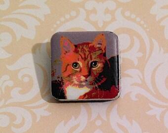 Cat tile pin