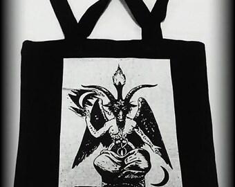 Baphomet tote bag, Satanic purse, Satanic bag, Satanic clothing, Occult clothing, Occult bag, Satan