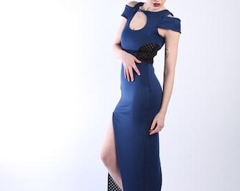 Full length Keyhole Neckline Dress