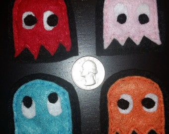 Felt Pacman Ghost Pin