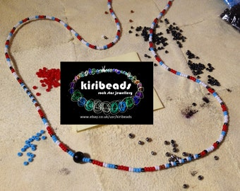 Robert Plant Led Zeppelin 1974 Song Remains the Same beads necklace replica, NEW, Handmade by Kiribeads