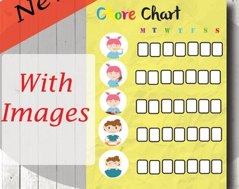 Kids Routine, Kids Chore Chart, Toddler chart, Kids chore list, Kids Organization, Kids Poster, Wall PDF, A4 Printable, INSTANT DOWNLOAD