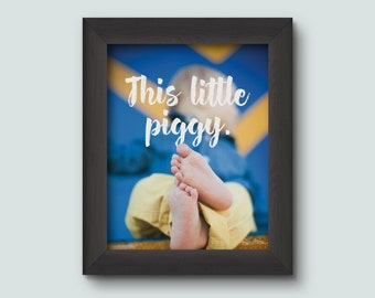 This Little Piggy, Instant Download, Printable Wall Art