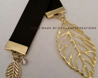 Gold leaf Charm Bookmark