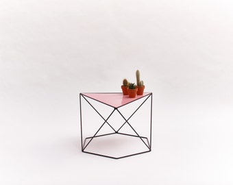 6X120-side table black/pink
