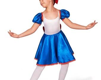 Toddler Halloween Costume, Girls Costume, Ballet Skirt, Dance Skirt, Infant Costume, Ballet Clothing, Custom Costume, Russian Costume