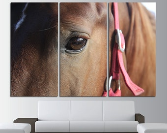 Large Horse Canvas Print Multi Panel Horse Wall Art Horse Canvas Art Horse Home Decor Horse Poster Horse Print Horse Photo Wall Art Sunset
