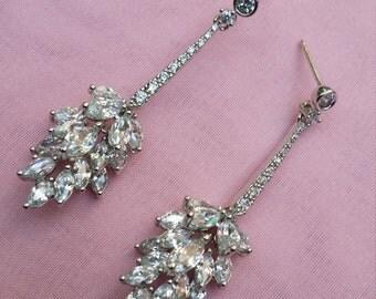 Marquis Cubic Zirconia Chandelier Earring/ Bride Chandelier Earrings/ Bridesmaids Drop Earrings/Sparkly Crystal Earrings