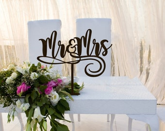 Mr end Mrs Wedding  Table  Signs Wedding Sign  Wedding Decor  Wedding  Mr & Mrs Wedding Sign Wood
