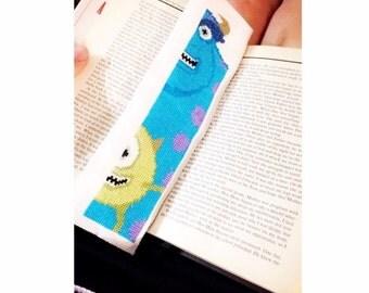 Monsters Inc Cross-Stitch Bookmark