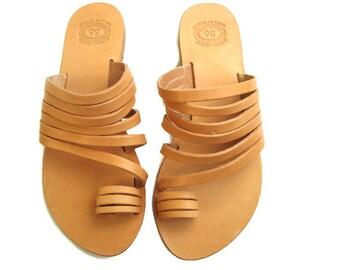 Strappy sandals, Handmade sandals, Greek sandals, Leather sandals, Toe ring sandals, Womens sandals, Aphrodite