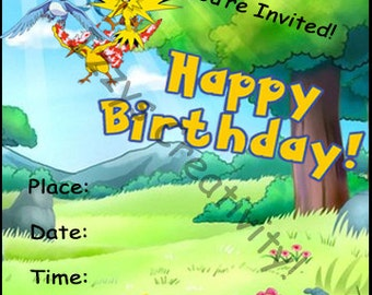 Pokemon Birthday Invite Print, Fill in and GO!