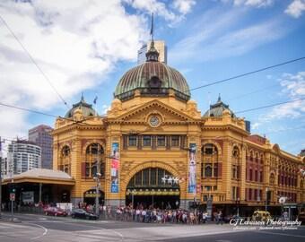 Flinders Street Station - original photography, digital download, street photo