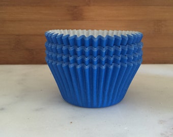 Solid Blue BakeBright Cupcake Liners, Taller Sized, Baking Cups (30)