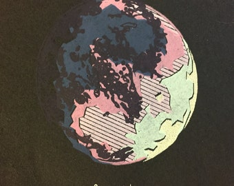 Ganymede Moon Screenprint, Jupiter Moon Print