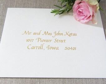 Custom Hand Calligraphy Envelope Address