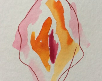 Vulva in Watercolour