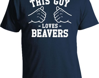 This Guy Loves Beavers Shirt Animal Lover T Shirt Pet Lover Gift Ideas For Men Father's Day T-Shirt Daddy TShirt  Mens Tee TGW-117