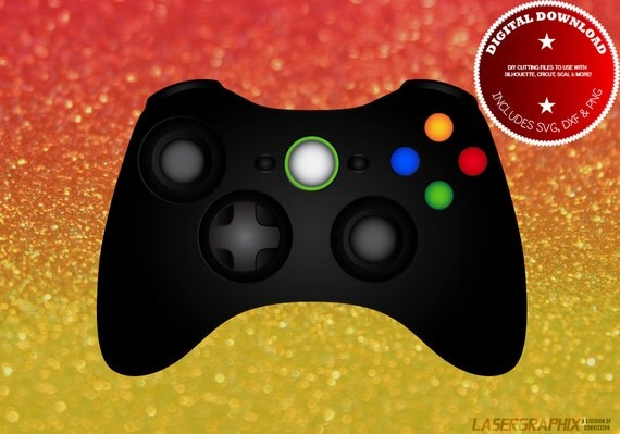 Xbox Controller Layered File Svg Dxf Jpg Png Files For