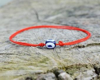 Kabballah Bracelet with Evil Eye, Friendship Bracelet, Red String Bracelet, Kaballah String Bracelet
