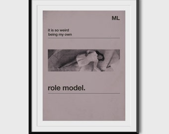 "Mindy Lahiri ""Role Model"" 8.5x11 Print"