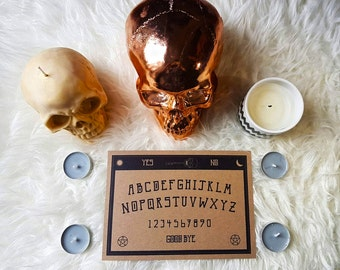 Ouija Board Wall Art Print A5 148mm x 210mm, Original Typography, Gothic Print, Gothic Home Decor, Paranormal Art, Ouija Board Decor