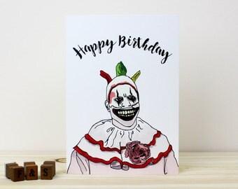 American Horror Story Birthday Card | Twisty the Clown Card